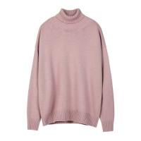 [이민호 착용]UNISEX RELAXED TURTLENECK SWEATER atb084(Pink)