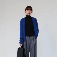 Wool basic v-neck cardigan