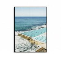 거실인테리어 사진액자 바다 풍경 파도