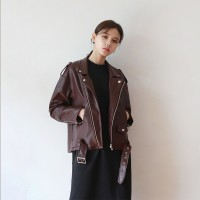 Color leather jacket