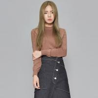 FRESH A half neck knit (4 colors)_(412221)