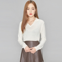 V collar autumn knit (3 colors)_(412182)