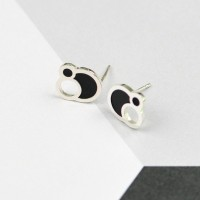 CELLA Cell Silver Circle Earrings