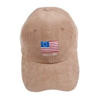 FLAG CORDUROY BALL CAP BEIGE