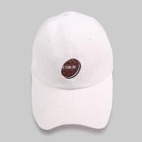 OREO CORDUROY BALL CAP WHITE