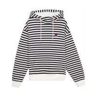 [Tea Please] Stripe Hoodie Fleece(Ivory)_(454108)