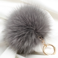 [폭스퍼 키링]Real Fox Fur Keyring