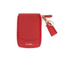 버밀란 포켓 카드 지갑 - 레드