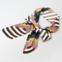 Piano Pleats Tie Scarf