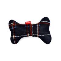 [펫토맘]강아지장난감 애견용품 - 강아지뼈_체크 네이비
