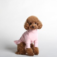 NAME TURTLENECK DRESS_PINK