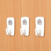 벽걸이 꽃무늬 접착후크 3P [6146]