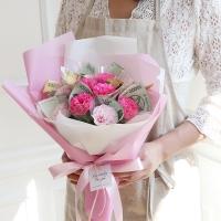 10송이 비누카네이션 꽃다발 돈다발_(412537)