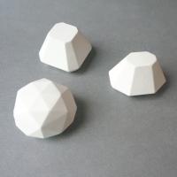 [디어마이디어] 석고 방향제 - 폴리곤 3set (리필포함)