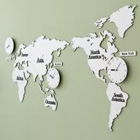 LPM 세계지도 무소음 벽시계