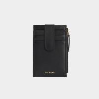 [살랑]Dijon 201S Flap mini Card Wallet black