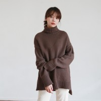 Daily turtleneck wool knit