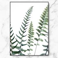 [RYMD] 북유럽 인테리어 액자 보태니컬 어텀 퍼른 식물 캔버스 액자