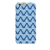 Watercolor Blue ZigZag Hard Case