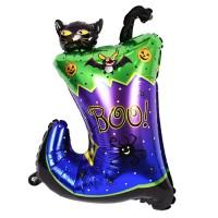 할로윈 은박풍선 슈퍼쉐입 - 장화속고양이