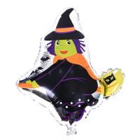 할로윈 은박풍선 슈퍼쉐입 - 빗자루탄마녀