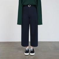 Round belt cotton pants