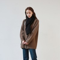 Angora loose-fit cardigan