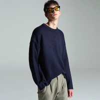 Basic normal knit (Navy)
