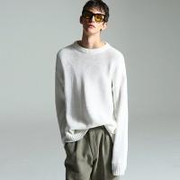 Basic normal knit (White)