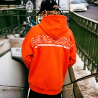 [서인국 착용]UNISEX ARCH LOGO EMBROIDERY HOODIE atb109(Orange)