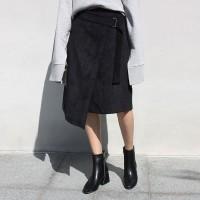 coduroy wrap skirt (2colors)