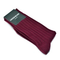 [Organic cotton] for men Solid Burgundy
