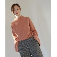 wide angora knits : 핑크