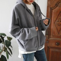 Daily vete napping hood zip-up