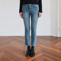 Washing cut crop denim