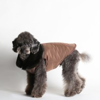 FURRY VEST_DARK CHOCOLATE