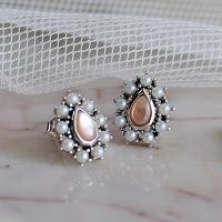 핑크펄 물방울 귀걸이 pink pearl water drop earring