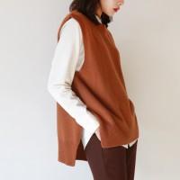 Lambswool basic vest