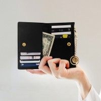 [★별자리 키링 증정] D.LAB Coin Card wallet - Black