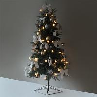 화이트 크리스마스 그린 디자인트리SET(150cm)