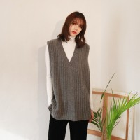 Golgi lambswool knit vest
