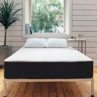 [라쏨] 화이트 철제 침대 매트리스 프레임