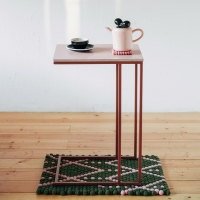 [라쏨] 핑크 자작나무 사이드테이블 로즈프레임 Lavender
