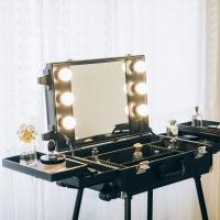 [라쏨] 조명 메이크업 화장대 마이프리티데이 블랙