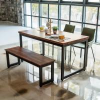 딥 멀바우원목 4인 식탁세트(의자/벤치)_(201242928)