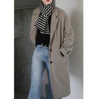 beige single coat