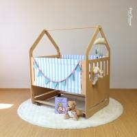 [한정판 아기침대] 유럽산 원목_미술책상, 플레이하우스로 변신