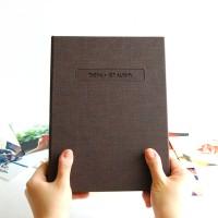 THE MOMENT 제이로그 접착식앨범X스크랩북 바인더-초코