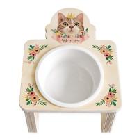 플라워 15도 리스식탁(고양이)
