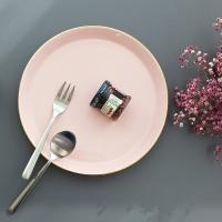 [쓰임]  소울 핑크 원형접시(중)